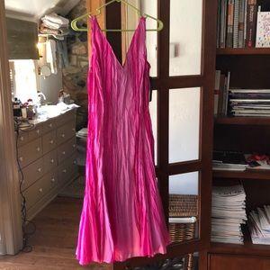 BNWT Ralph Lauren pink silk tie dye dress.